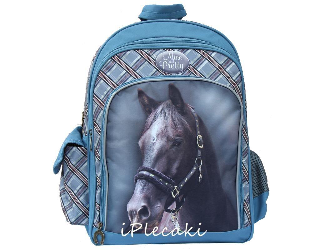 3fc9fe4341409 Plecak w Konie Szkolny Koń Konie Dla Dziewczyny do Szkoły iplecaki.pl