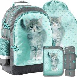 Kot na Plecaku Szkolnym dla Dziewczyny do Szkoły [RLC-116]
