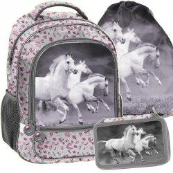 Plecak z Koniem dla Dziewczyny Szkolny Zestaw [PP19HS-260]