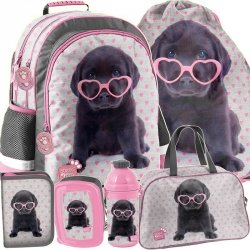 Plecak Dziewczęcy Labradorek do Szkoły z Pieskiem [PTB-116]