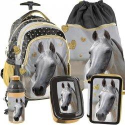 Plecak na Kółkach Koń Szkolny dla Dziewczynki Komplet [PP19H-997]