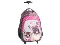 Plecak na Kółkach Pies Kotek Szkolny dla Dziewczyny PEE-997