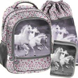 Szkolny Plecak z Koniem dla Dziewczynki Zestaw [PP19HS-260]