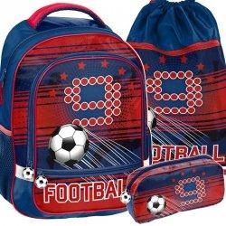 Szkolny Plecak Piłka Nożna Zestaw dla Chłopca [PP19FT-260]