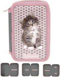 Piórnik Szkolny Kotek Kot dla Dziewczyny [RLD-023BW]