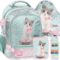 Plecak dla Dziewczynki w Koty Kotek Szkolny [PET-260]