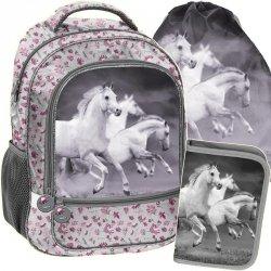 Plecak z Koniem dla Dziewczynki Szkolny Komplet [PP19HS-260]