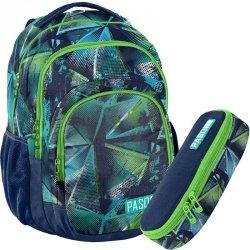 Zielony Plecak Młodzieżowy Szkolny Duży Zestaw dla Chłopaka [18-2706RG]