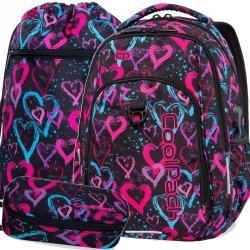 Piękny Plecak Cp CoolPack Serca dla Nastolatki Szkolny [B18038]