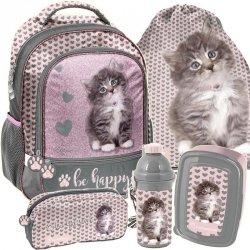 Plecak z Kotem  dla Dziewczyny do Szkoły Podstawowej [RLD-260]