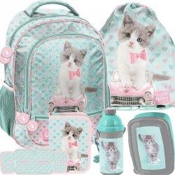 Dziewczęcy Plecak Szkolny Kotek z Kotkiem [PET-260]