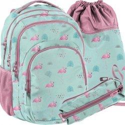 Duży Plecak Dziewczecy Młodzieżowy Szkolny Flamingi [PPLF19-2706]