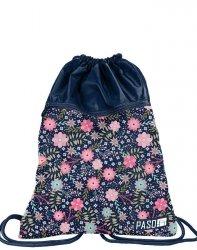 Worek jak Plecak Młodzieżowy dla Dziewczyny Kwiatki [PPMZ19-713]