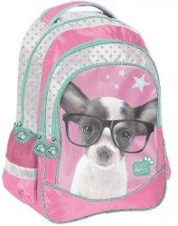 Kolorowy Plecak z Pieskiem Szkolny dla Dziewczynki [PTD-181]