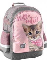 Kotek Plecak Szkolny z Kotkiem dla Dziewczynki  [PJC-116]