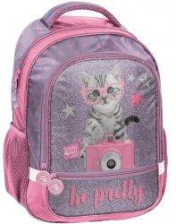 Plecak Szkolny z Kotkiem Kotem dla Dziewczynki [PTG-260]