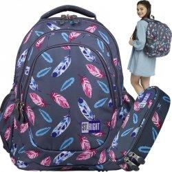 Duży Plecak St.Right Młodzieżowy dla Dziewczyny Indian Feathers [BP6]
