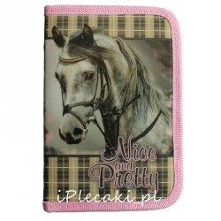Piórnik Koń Konie Szkolny dla Dziewczyny z Wyposażeniem