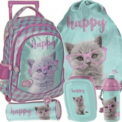 Plecak na Kołach Kot Kotek Szkolny Zestaw [PTF-1221]
