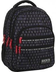 BackUP Plecak Czarny Młodzieżowy Szkolny Klawiatura [PLB3M45]