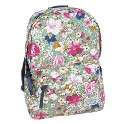 Plecak dla Dziewczyny Vintage Łąka Młodzieżowy Szkolny Kwiaty