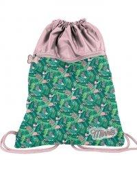 2 Komorowy Worek jak Plecak na Obuwie dla Dziewczyny Myszka Minnie [DISC-713]