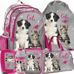 Plecak Szkolny Piesek Kotek dla Dziewczynki [RLE-081]