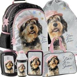 Plecak do Podstawówki Pies w Czapce dla Dziewczynki [RLF-116]