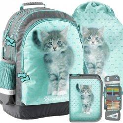 Plecak Szkolny z Kotkiem Kotem Kot Dziewczęcy [RLC-116]