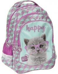 Plecak Szkolny z Kotkiem Kot dla Dziewczynki [PTF-181]