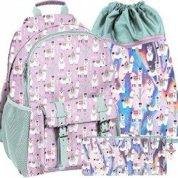 Duży Plecak z Lamami dla Dziewczynki Szkolny Paso [PP19LA-810]