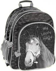 Plecak Szkolny Czarny Koń dla Dziewczynki do Szkoły [PP19KO-090]