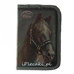 Piórnik Szkolny Koń Konie dla Dziewczyny z Wyposażeniem [607119]