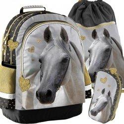 Plecak Szkolny Koń Konie dla Dziewczynki Komplet [PP19H-116]