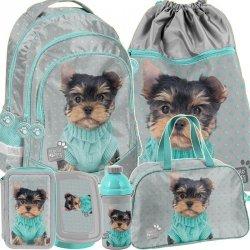 Plecak Szkolny dla Dziewczynki Piesek York Komplet [PTH-181]