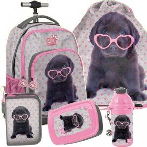 Szkolny Plecak na Kółkach Labrador Piesek dla Dziewczyny [PTB-887]