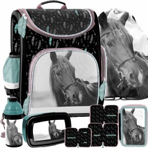 Paso Szkolny Tornister Koń dla Dziewczynek komplet 5w1 [PP21KE-524]