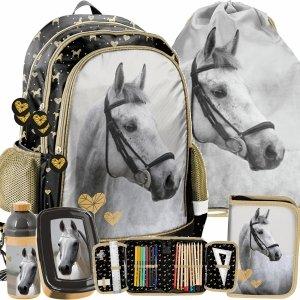 Plecak do Szkoły Dla Dziewczynki z Koniem Koń do 1 Klasy [PP20H-081]