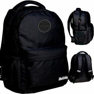Czarny Vintage Plecak Młodzieżowy dla Uczennicy BeUniq [PPNE20-2705]