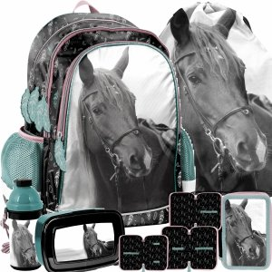 Konie Plecak do Szkoły Podstawowej do 1 klasy Komplet Paso [PP21KE-081]
