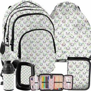 Plecak Szkolny dla Dziewczyny Misie Panda Komplet 5w1 [PP21PN-2706]