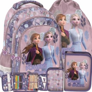 Różowy Plecak Frozen Kraina Lodu 2 Szkolny do 1 Klasy Paso [DOG-181]