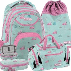 Modny Plecak Szkolny Młodzieżowy dla Dziewczynki BeUniq [PPLF19-2708]