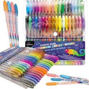 Długopisy Żelowe Fluorescencyjne 36 Kolory Kidea dla Dzieci [DZ36KA]