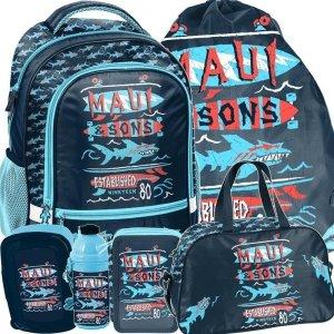 Plecak dla Chłopaka Szkolny Maui Sons Duży Zestaw [MAUL-260]