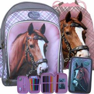 Plecak w Konie Szkolny dla Dziewczynki Komplet do Szkoły [607765]