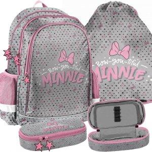Myszka Minnie Plecak dla Dziewczynek do Szkoły Zestaw Paso [DNF-081]