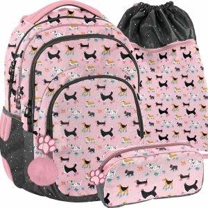 Plecak do klas 1-3 z Pieskami dla Dziewczyny 4 komory [PP21DG-2706]