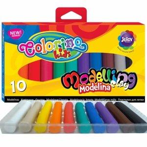 Modelina 10 Kolorów Colorino Szkolna Masa Plastyczna [42741PTR]