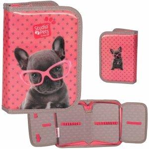 Piórnik Dziewczęcy z Pieskiem w Różowych Okularach [PEC-001BW]